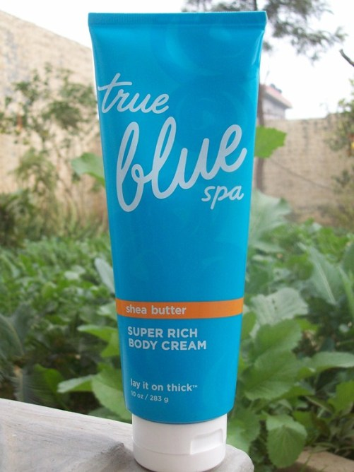 Bath and Body Works True Blue Spa Super Rich Body Cream Review