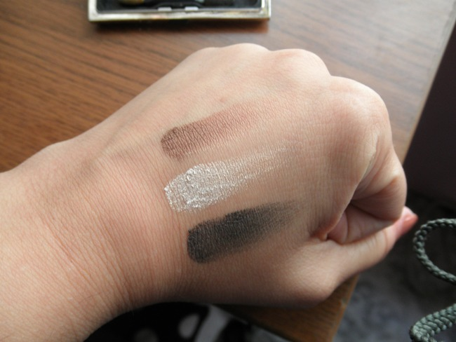 Chambor eyeshadow trio Mystic swatches