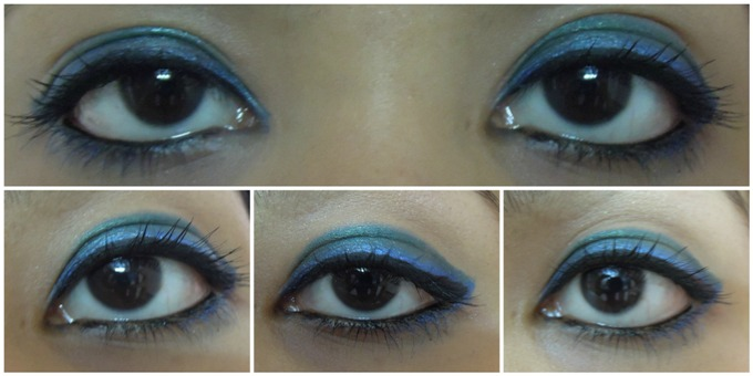 Eye+Makeup+Using+Only+Eyeliners+Tutorial