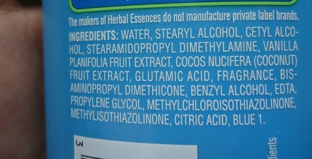 Herbal Essences Hello hydration moisture & Shine Conditioner ingredients