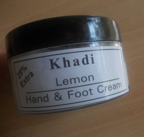 Khadi lemon hand foot cream