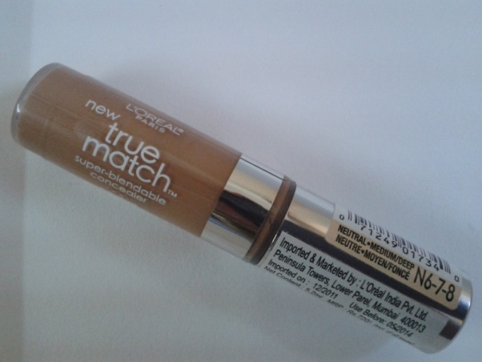 L'Oreal+New+True+Match+Super+Blendable+Concealer+Review