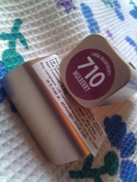 Loreal Color rich lipstick 710 Mulberry