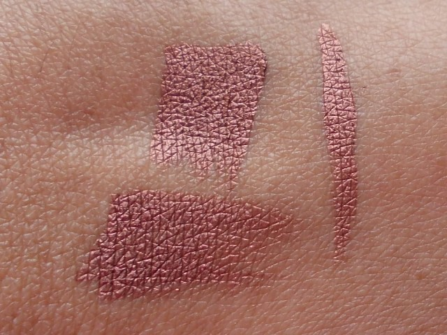 MAC Fluidline Rich Ground swatches (2)