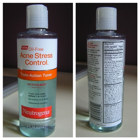 NUetrogena acne stress control triple action toner