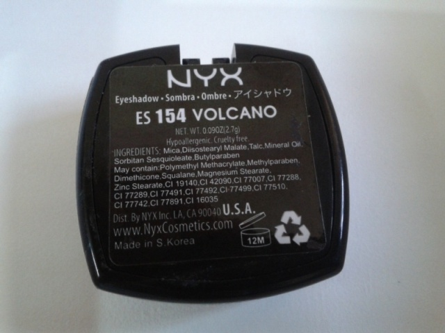 NYX Single Eyeshadow Volcano  Ingredients