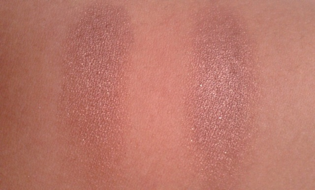 NYX Single Eyeshadow Volcano  Swatches (2)