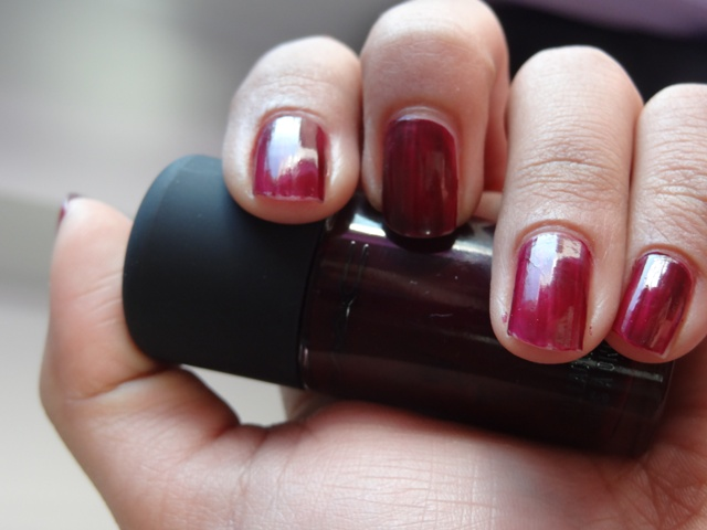 Nails MAC Me Over Purple Majesty Nail Lacquer Review