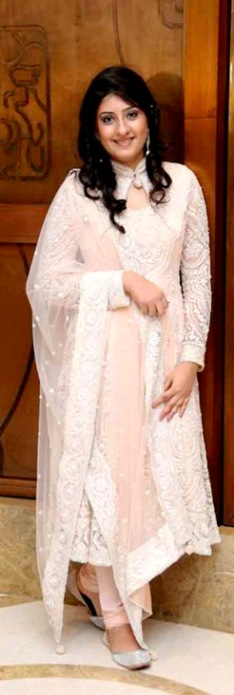 Outfit+of+the+Day+Peach+Anarkali+Dress+with+Pearl+and+Embroidery+Work
