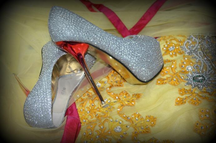 Swarovski stone shoes