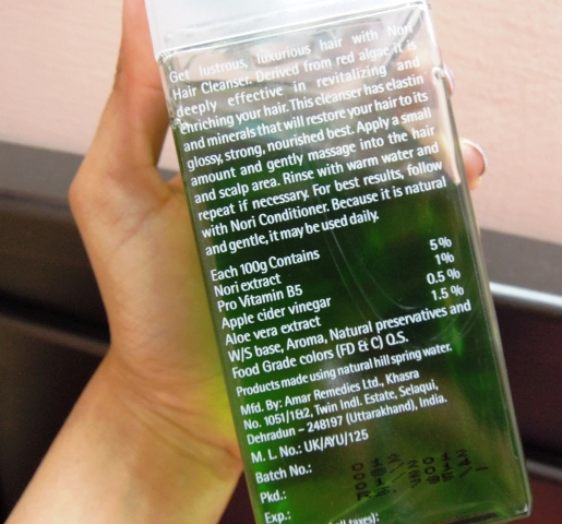 The Nature's Co Nori Hair cleanser  (4)