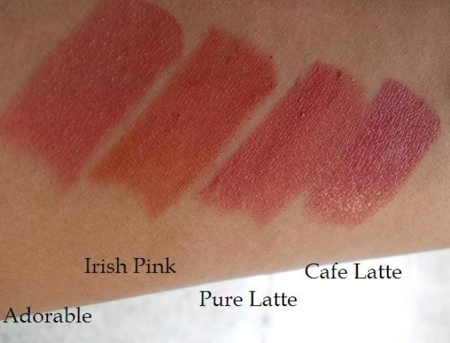 colorbar lipstick swatches