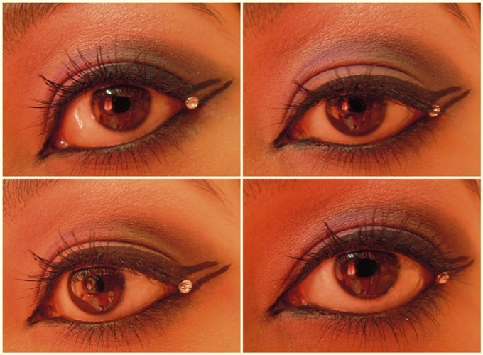 look 31 Lilac and Dirty Green Eye Makeup Tutorial