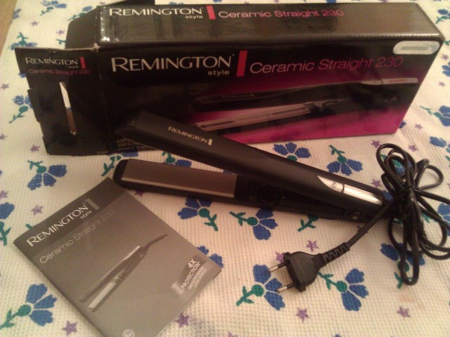 remington ceramic straight 230 hair straightener