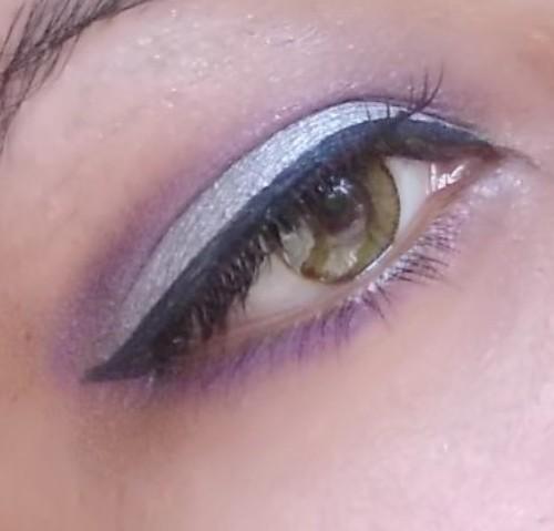 silver purple eye makeup