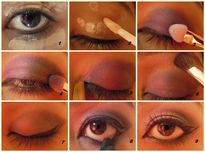 step 1 91 Lilac and Dirty Green Eye Makeup Tutorial