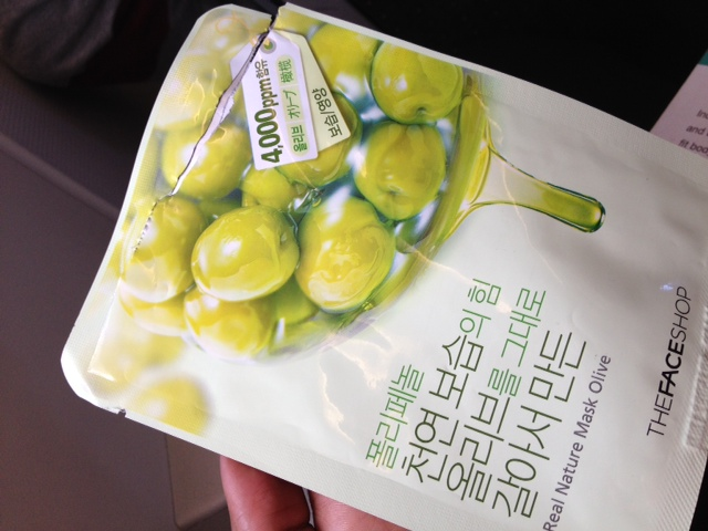 the face shop real nature olive mask