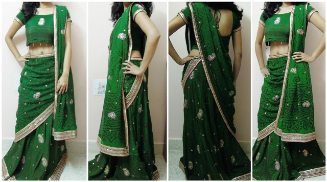 Cocktail look 7 Different Ways to Drape Lehenga Dupatta