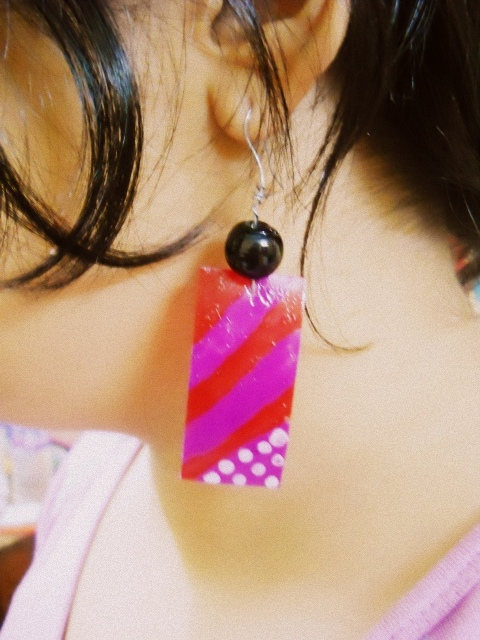 DIY price tag earrings (8)
