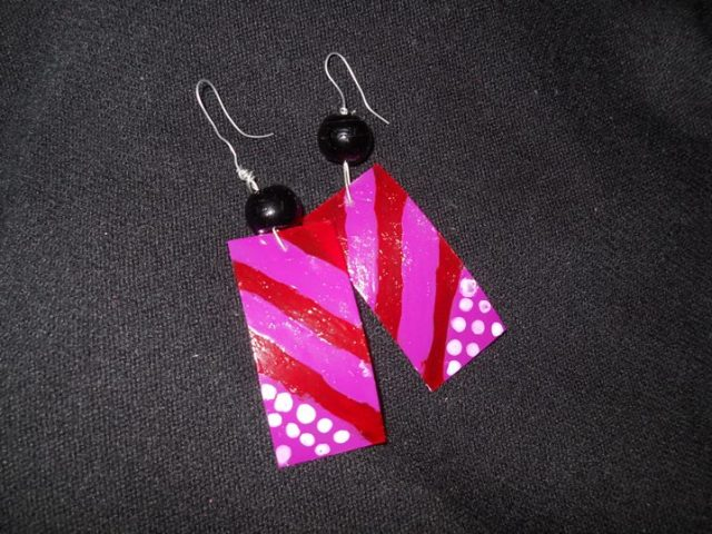 DIY price tag earrings