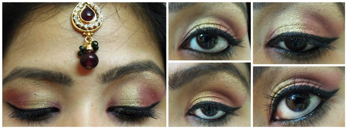 Gold+and+Maroon+Bridal+Eye+Makeup