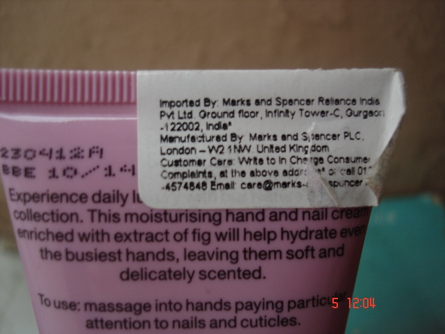 Marks & Spencer Fig & Orange Oil Nourishing hand &nail cream (5)