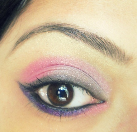 Pink+Silver+and+Purple+Winged+Eye+Makeup+Tutorial