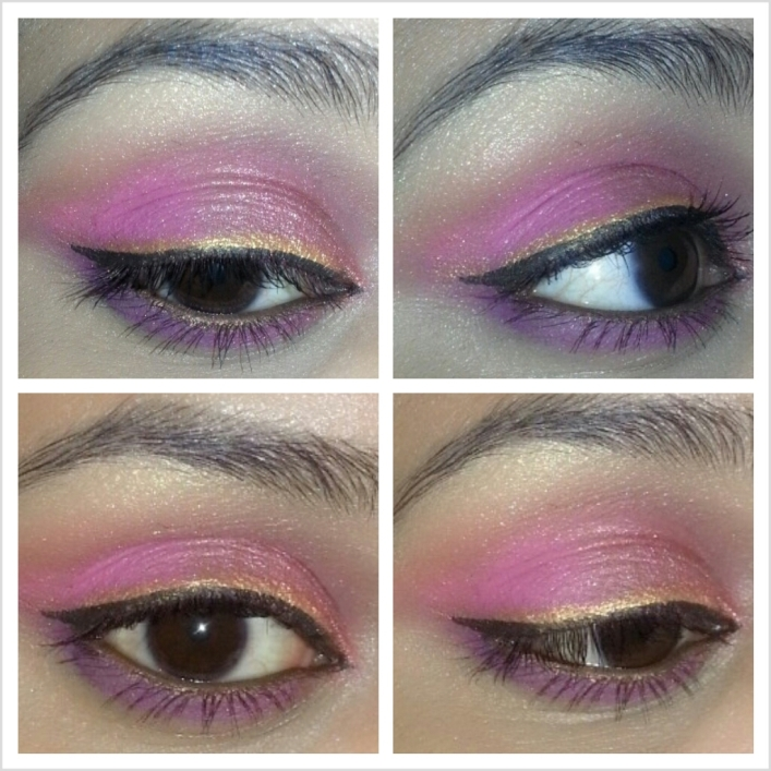 Pink+with+Rust+and+Purple+Outfit+Inspired+Eye+Makeup+Tutorial