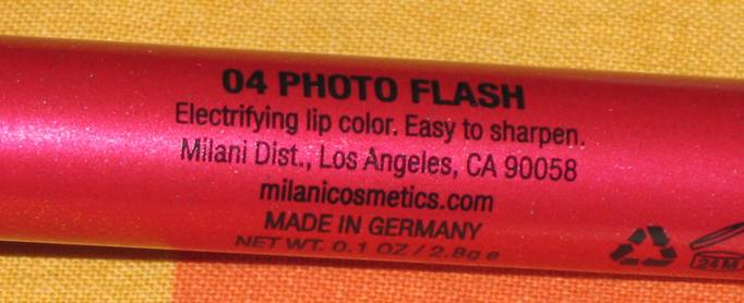 Red Lip Pencil 3 Milani Lip Flash Full Coverage Shimmer Gloss Pencil   Photo Flash