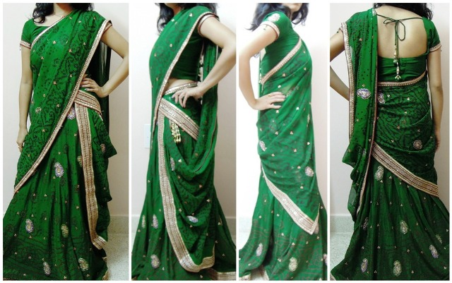 Sidha Ulta pallu 7 Different Ways to Drape Lehenga Dupatta