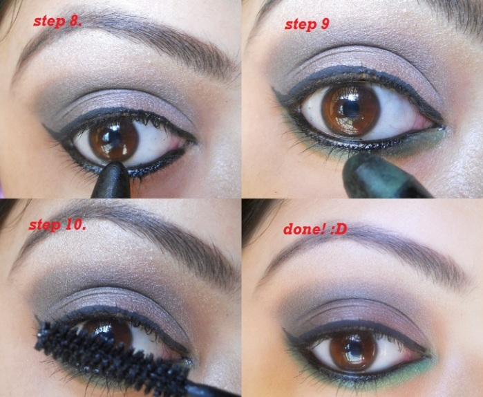 Smokey Eyes 6 Smokey Dark Grey and Green Eye Makeup Tutorial