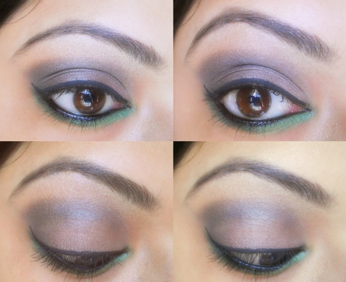 Smokey Eyes 7 Smokey Dark Grey and Green Eye Makeup Tutorial