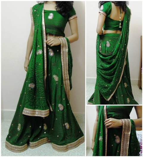 Tie on wrist 7 Different Ways to Drape Lehenga Dupatta