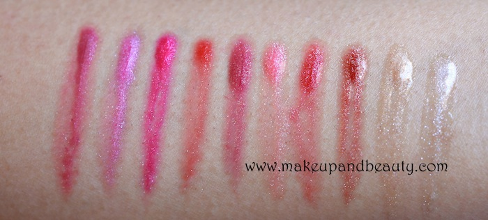 colorbar lipgloss photos, swatches, review