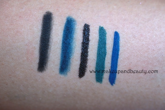 colorbar ultimate eyeliner swatches