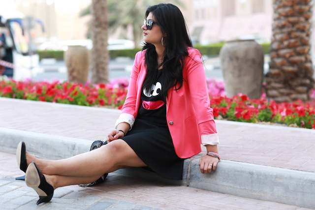 pink blazer fashion