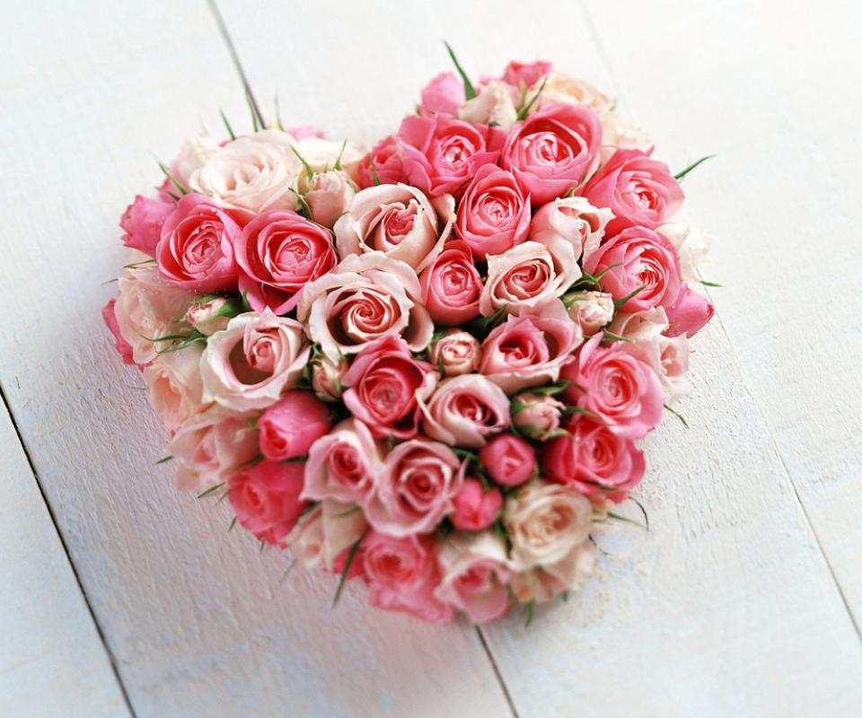 Pink Roses And Hearts Roses heart Pink Roses And Hearts