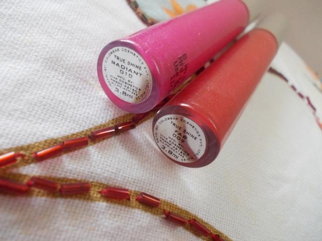 Colorbar True Shine LIp gloss Radiant, Fab (4)