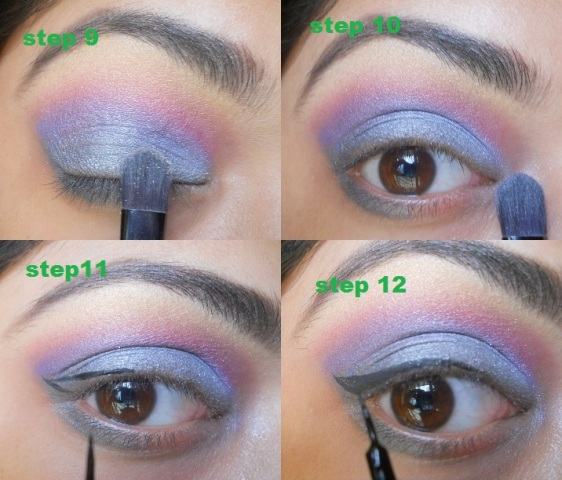 Gunpowder Grey and Purple Eye Makeup Tutorial (6)