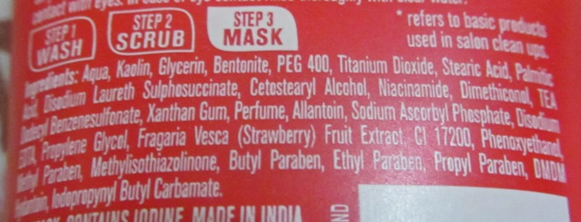 Lakme Clean Up Face Mask Ingredients