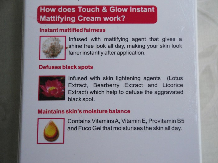 Revlon Touch and Glow Advanced Fairness Instant Mattifying Cream  (7)