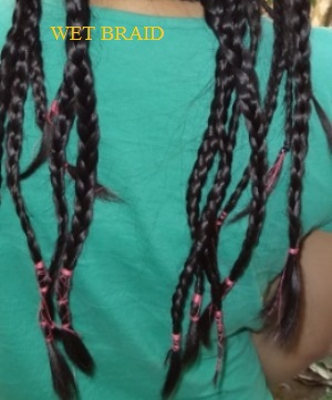 aftermakingbraid How to Do Hair Crimping at Home