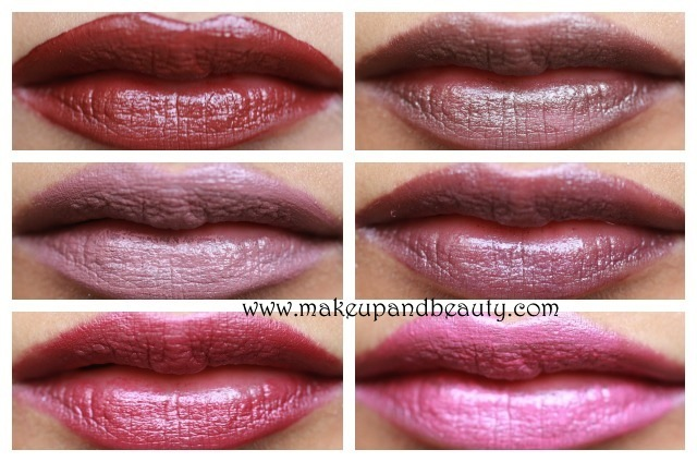 chambor flowing lipstick lip swatches