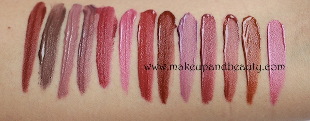 chambor flowing lipstick swatches