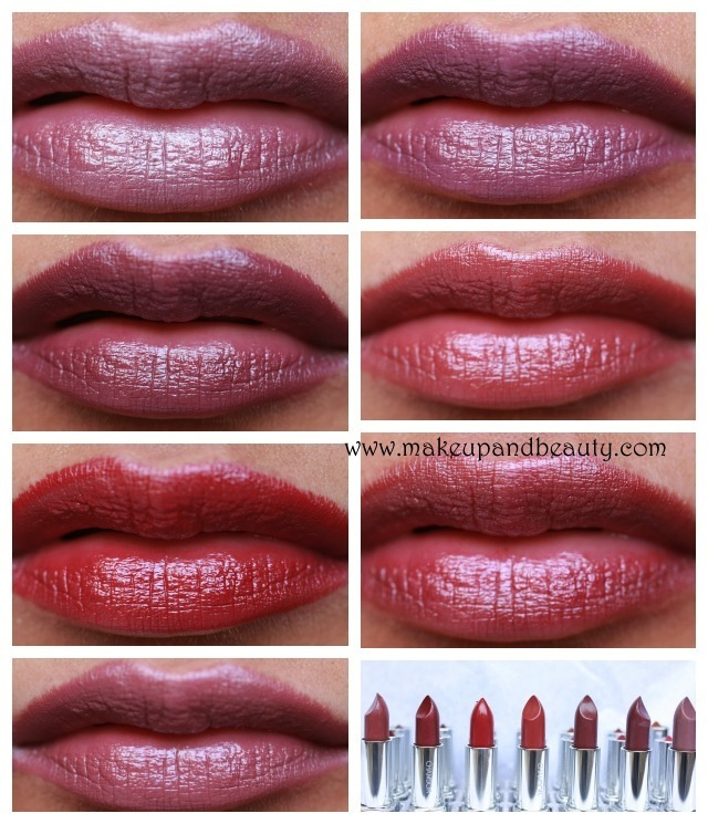 chambor silk lipsticks lip swatch