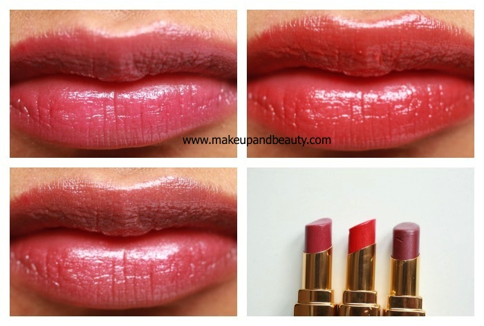 chanel rouge coco shine lip swatches