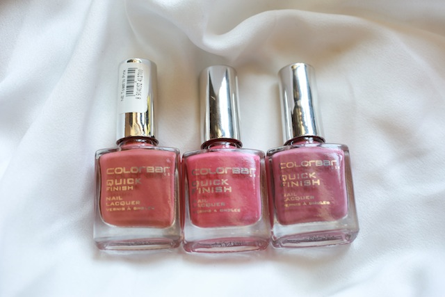 colorbar mauve nail polishes