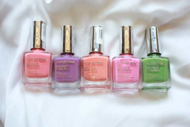 colorbar pastel nail polishes