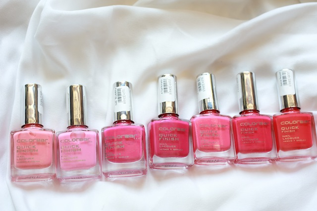 colorbar pink nail polishes