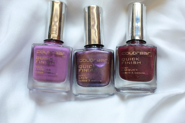colorbar purple nail polishes